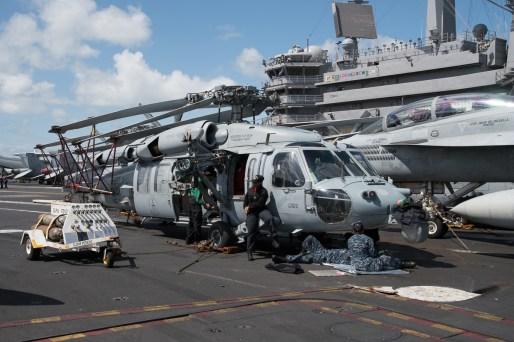 © Duncan Monk - Sikorsky MH-60S 168581/AJ 620 - USS George H W Bush CVN 77
