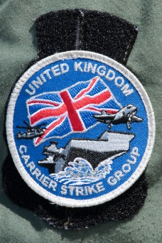 © Duncan Monk - UK Carrier Strike Group Patch - USS George H W Bush CVN 77