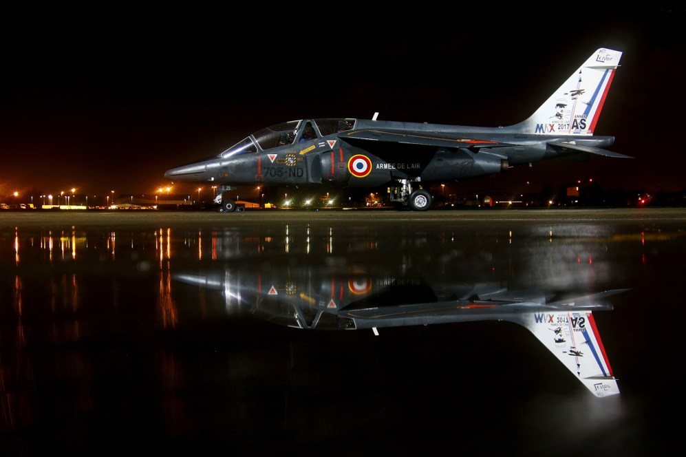 © Jamie Ewan - Armée de l'Air Alpha Jet 705-ND / E26 - Northolt Nightshoot XXIII