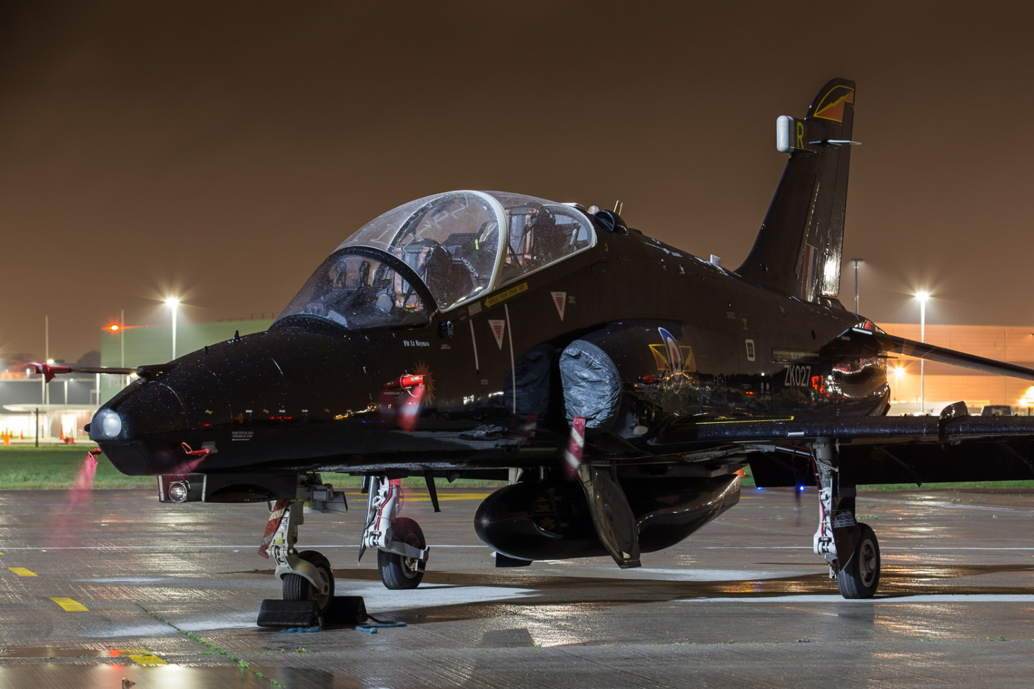 © Adam Duffield - Royal Air Force Hawk T2 ZK027 - Northolt Nightshoot XXIII