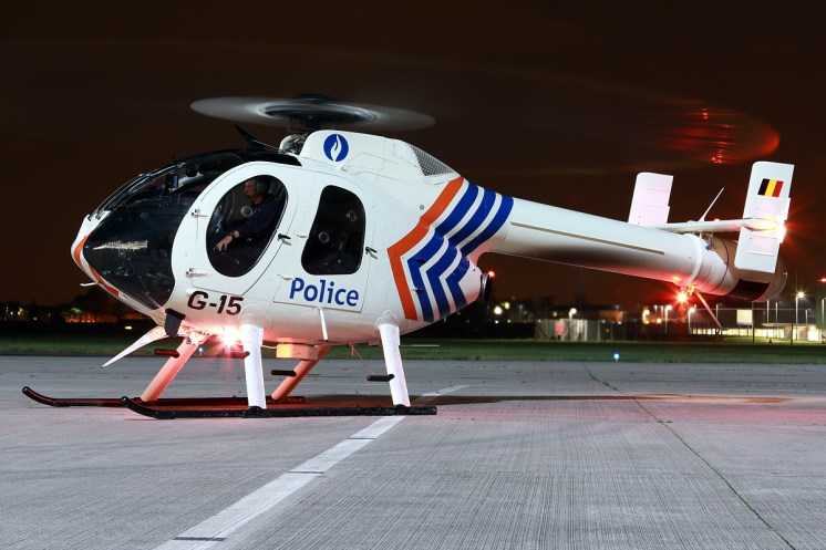 © Mark Kwiatkowski - Belgian Federal Police MD 520N G-15 - Northolt Nightshoot XXIII