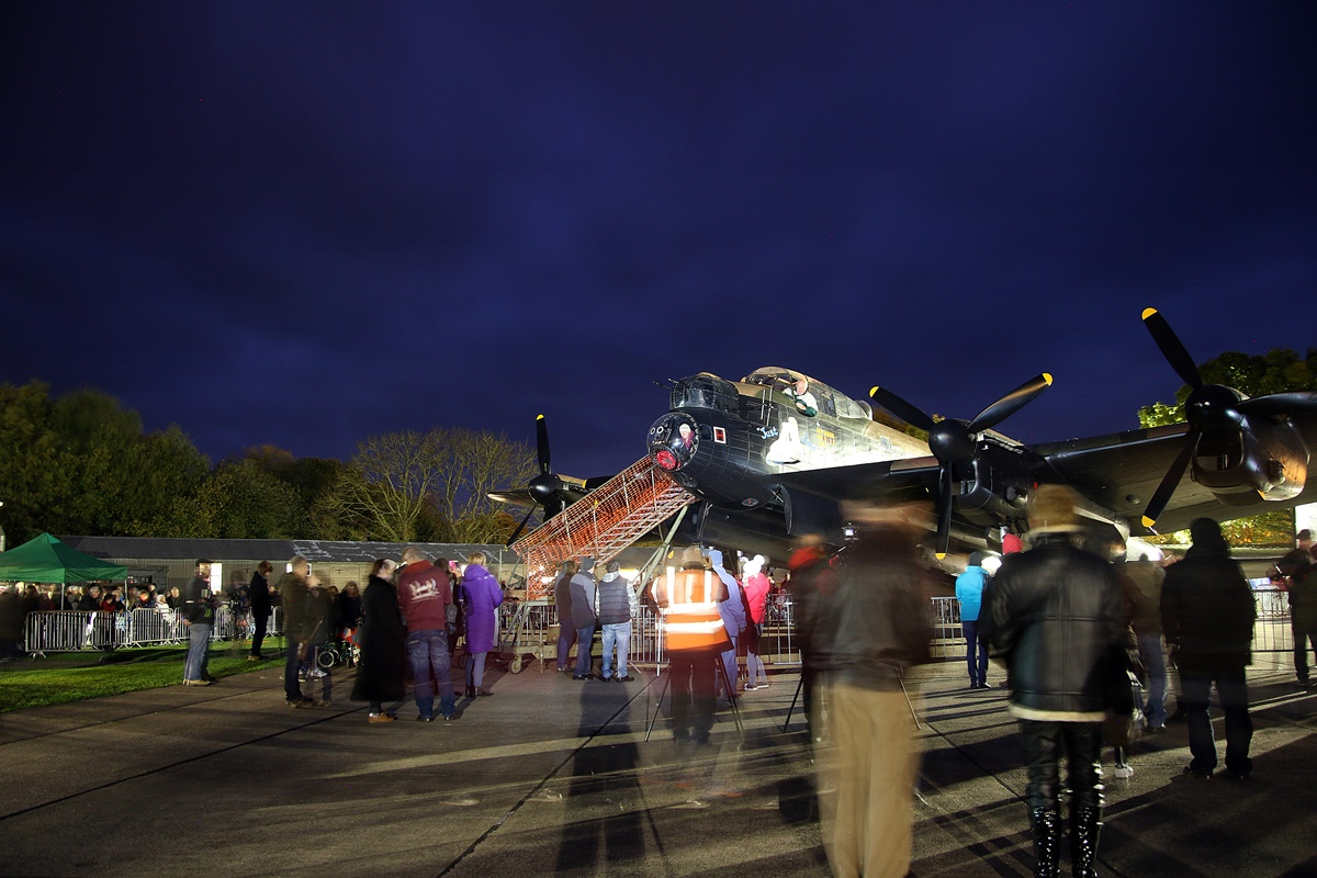 © Jamie Ewan - Lincolnshire Aviation Heritage Centre Avro Lancaster 'Just Jane' Night run and Fireworks 2017 - East Kirkby Season Finale