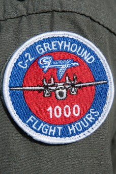 © Duncan Monk - VRC40 C-2A Greyhound 1000 Hours Patch - VRC-40 'Rawhides' – C-2A Greyhound
