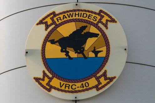 © Duncan Monk - Rawhides Squadron badge - VRC-40 'Rawhides' – C-2A Greyhound