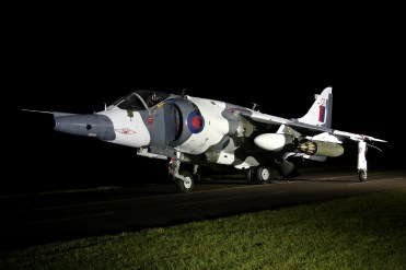 © Jamie Ewan - British Aerospace Harrier GR3 XZ991 / 07 (1(F) Squadron marks newly applied) - RAF Cosford Nightshoot