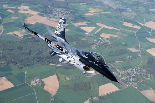 © Graham Platt / BCAR - Belgian Air Force F-16 FA-101 'Dark Falcon'https://lightnings.org.uk/shop/tickets/lightning-x4/