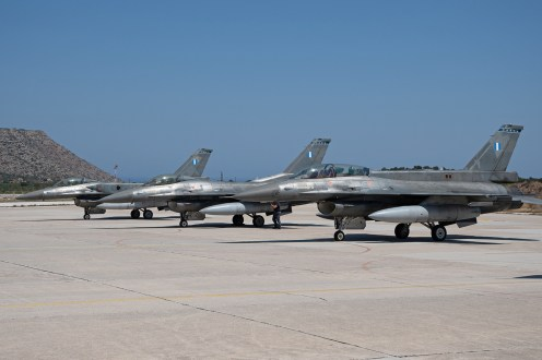 © Duncan Monk - HAF F-16C & F16D 3 ship - 115 Combat Wing – Hellenic Air Force – Cretes Ghost Vipers