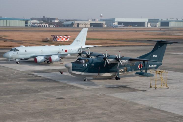 ©Duncan Monk - Kawasaki P-1 5515 and a ShinMaywa US-2 - JMSDF Atsugi Kawasaki P-1