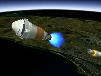 Boeing CST-100 Spacecraft Separating From Atlas V Rocket 1st Stage Picture
