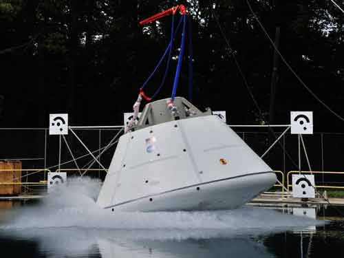 Orion Spacecraft Water Impact Testing Picture