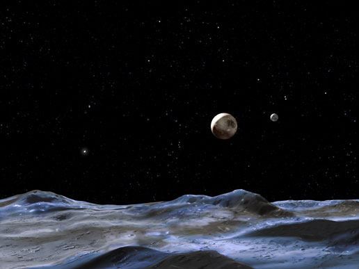 Moons of Pluto Picture