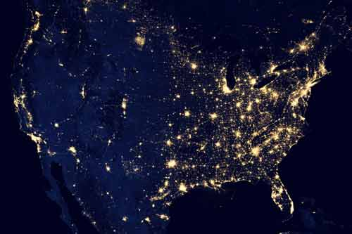 USA at Night Picture