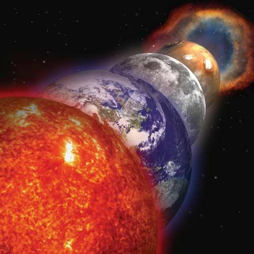 Sun Earth Moon Mars