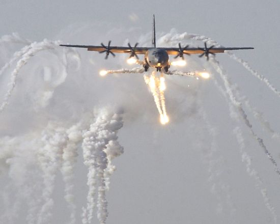 defensive actions by a C130 over Baghdad