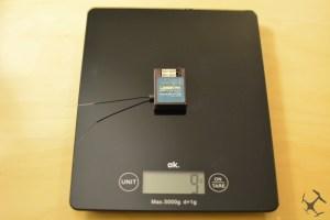 Gewicht des Telemetrie Moduls