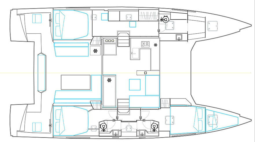 FLO - Bavaria Nautitech 46 Open Owner Layout