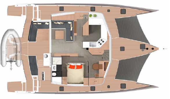 Neel 51 Trimaran Layout Main Deck