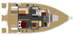 LEEN 56 Power Trimaran Layout - Aeroyacht Multihull Specialists
