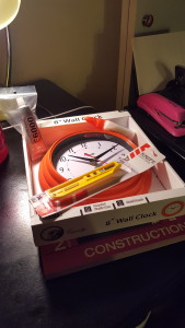 Supplies for this project include a clock, which I will disassemble