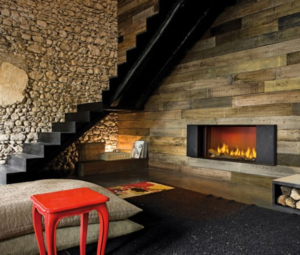 Modern rustic interior design Mountain Modern Rustic Lounge Room Featuring Fireplace Aesthetics Of Design Modern Rustic Design Aesthetics Of Design