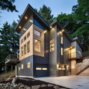 A Modern Rustic exterior to a house.
