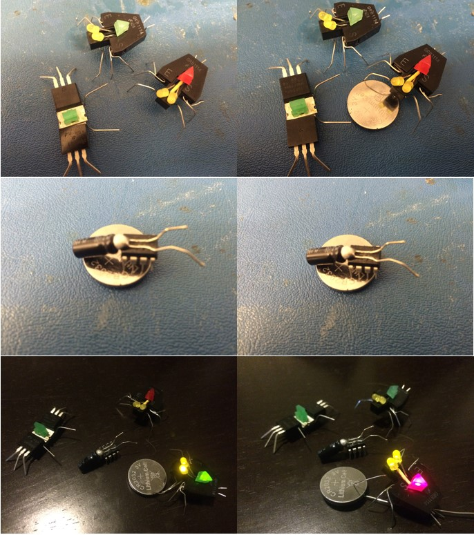 Figure 2; This are more pictures showing the spiders and the unfinished firefly.