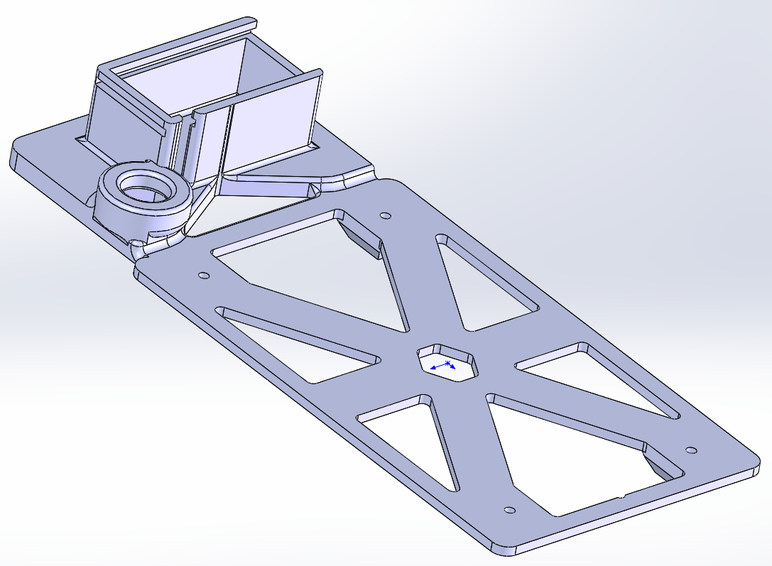 Figure 8; This is the anchor and spine that brings all of the parts together.
