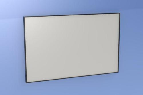 Figure 2: Front view of glass writing board assembly