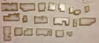 These were the base layer map and pieces frosted and the pieces glued together.