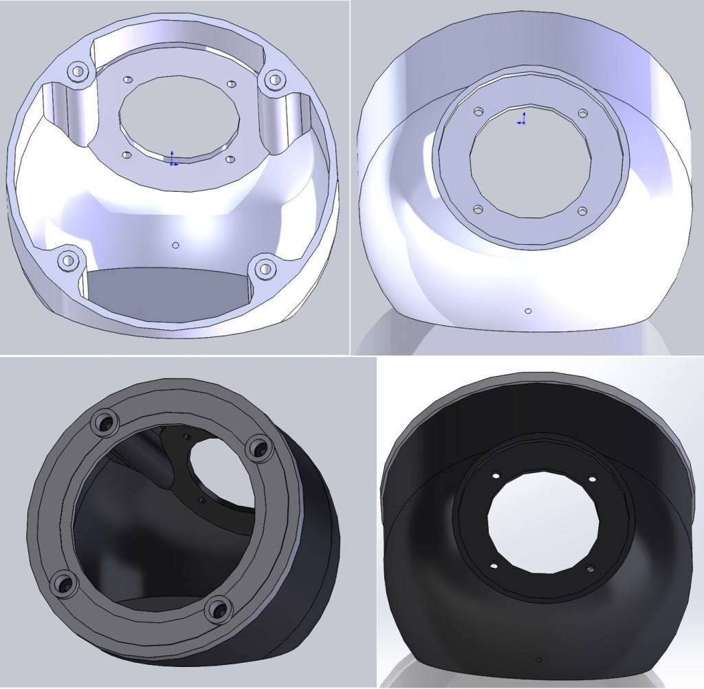 Figure 15: This are 3D models for the speaker housing.