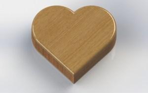 Rendering - Heart Shape - Closed