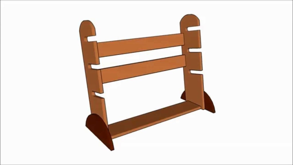 This is a picture of a skateboard rack