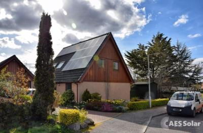 Solar electricity installation in Forres, Scotland
