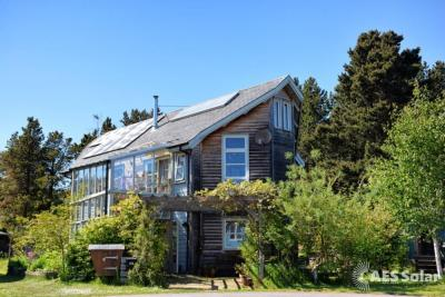 Solar electricity and water heating in Findhorn, Scotland