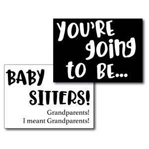 Funny Baby Card for Grandparents