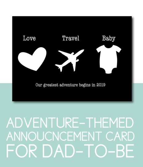 Travel Themed Card for the Dad-to-Be