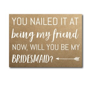 Friendship Bridesmaid Ask Card