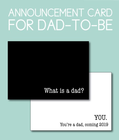Announcement Card for Dad-to-Be