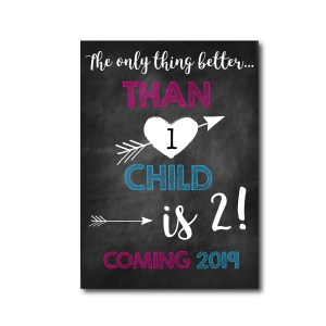 Second Baby Announcement Card