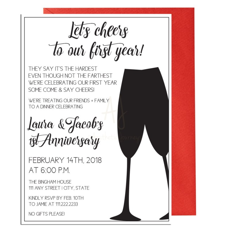 First Anniversary Party Invite
