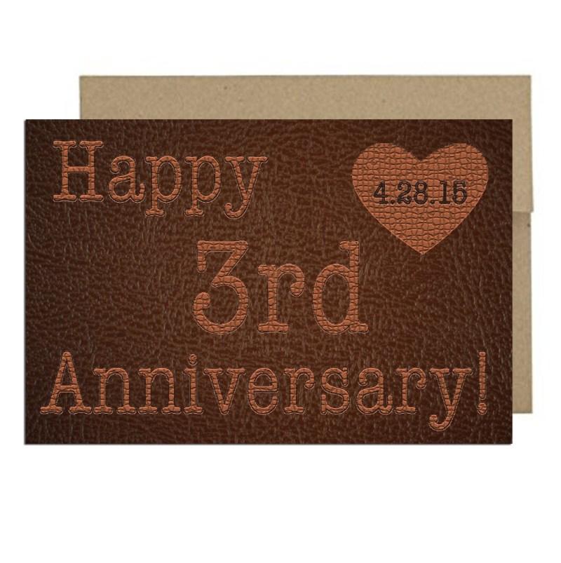 Third Anniversary Card