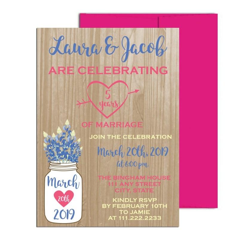 Fifth Anniversary Party Invite