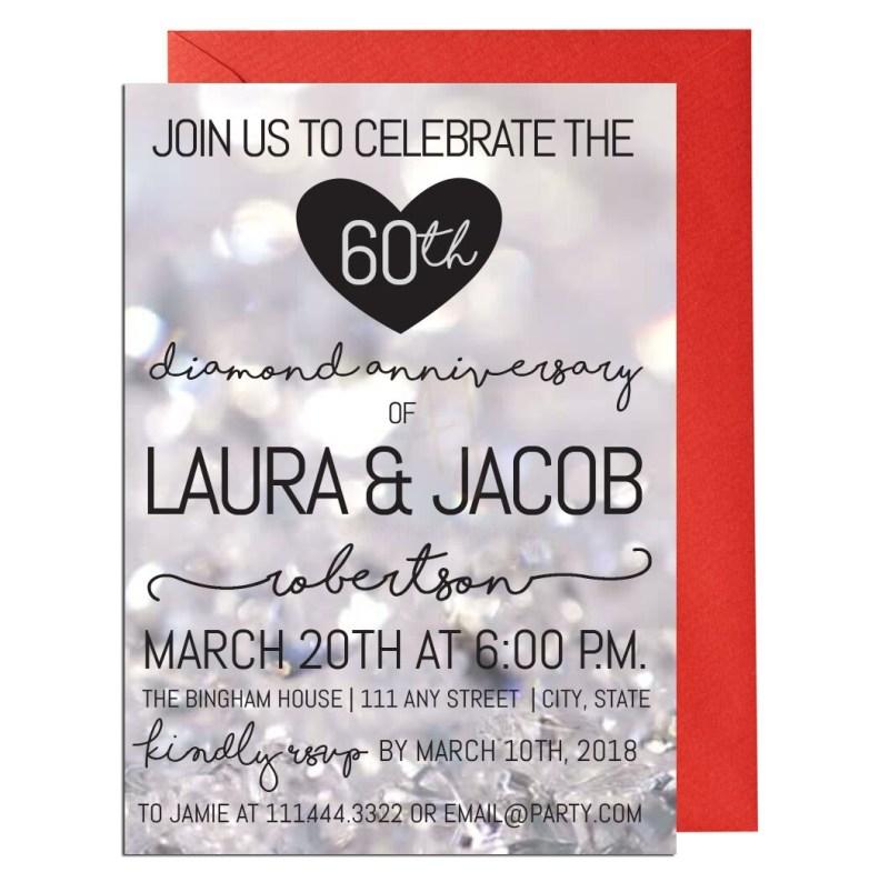 Sixtieth Anniversary Party Invite