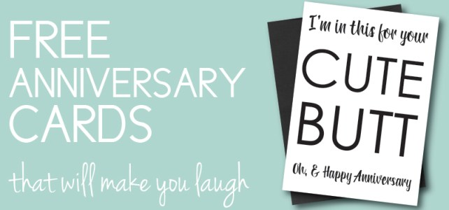 Free Anniversary Cards to Make You & Your Loved One Laugh