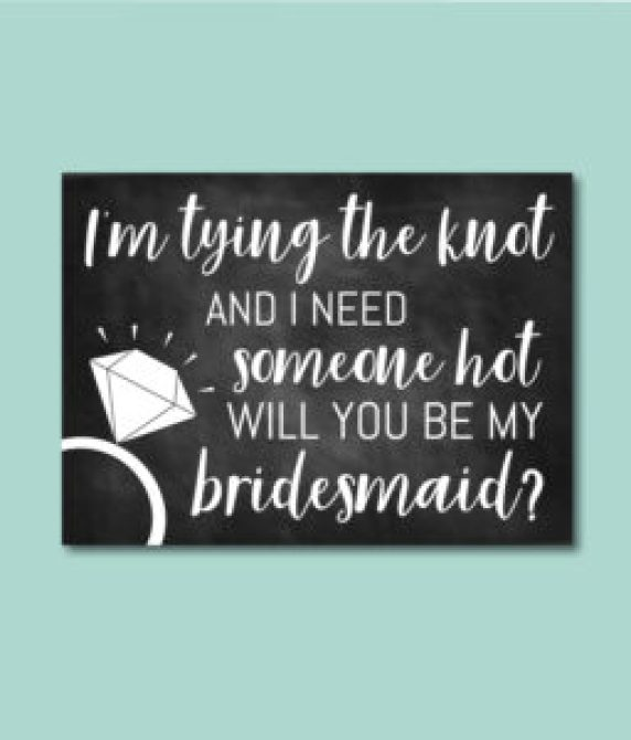 Tying the Knot Bridesmaid Ask Card
