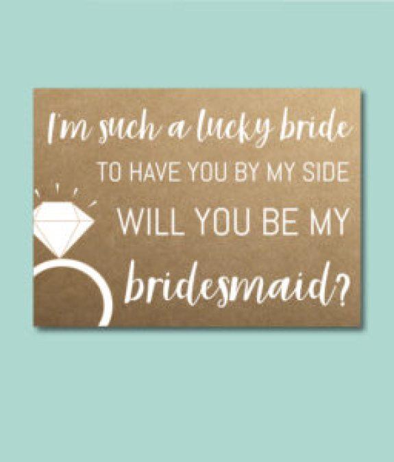 Lucky Bride Bridesmaid Ask Card
