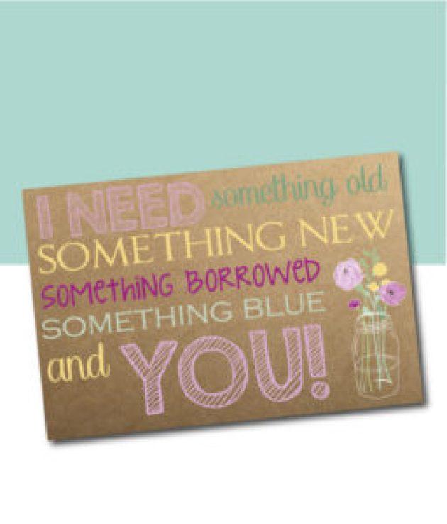 I Need Something... Bridesmaid Ask Card