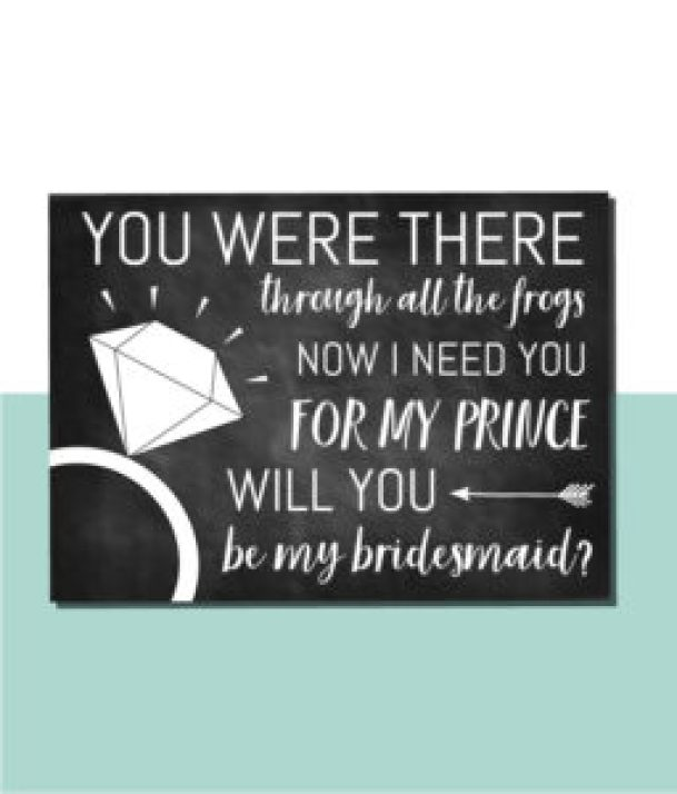 You Were There Through the Frogs Bridesmaid Card