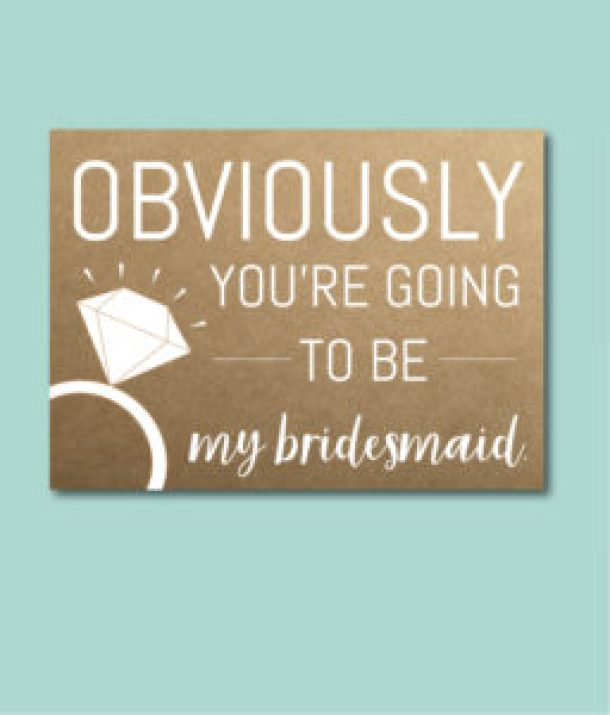 Obviously Bridesmaid Ask Card