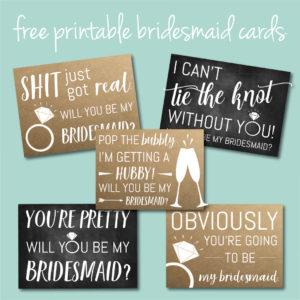 Download 5 Free Bridesmaid Ask Cards